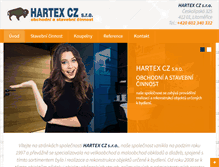Tablet Preview of hartex.cz